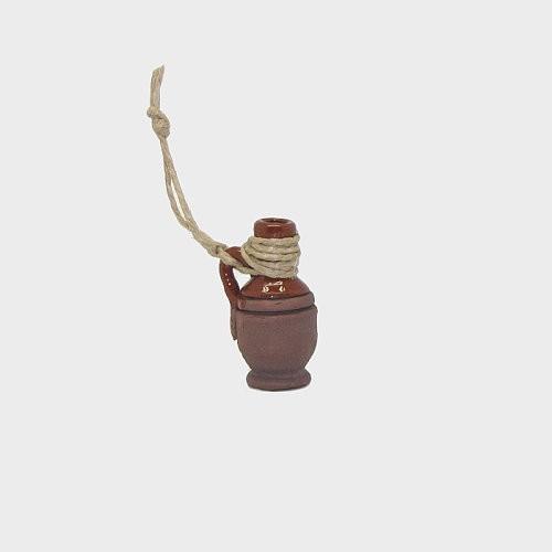 Krippendekoration Tonkrug glasiert 3,1cm hoch